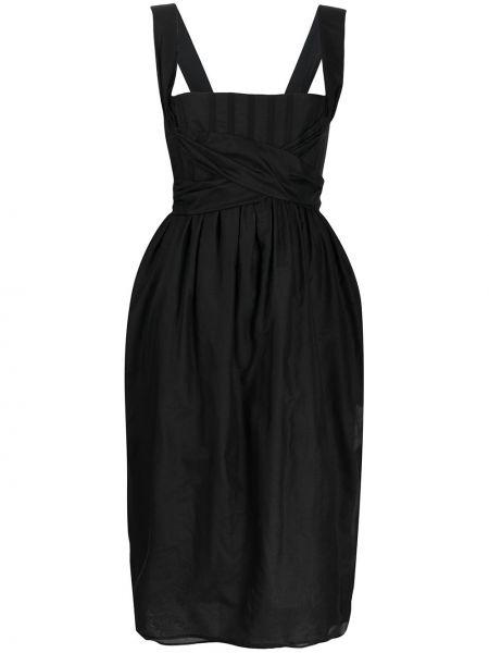 Платье черное с рукавами Brock Collection