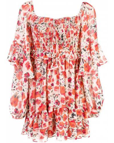 Облегающее платье с цветочным принтом с вырезом Misa Los Angeles