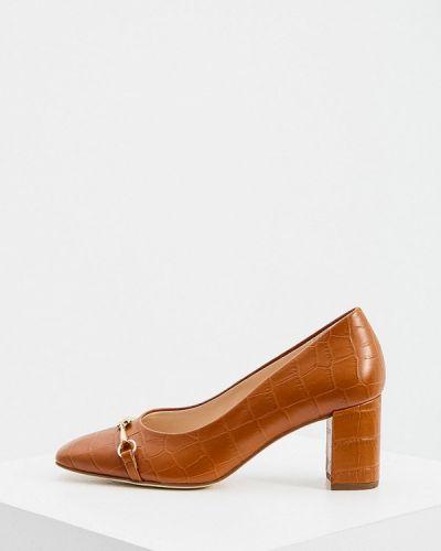 Деловые коричневые кожаные туфли Hogl