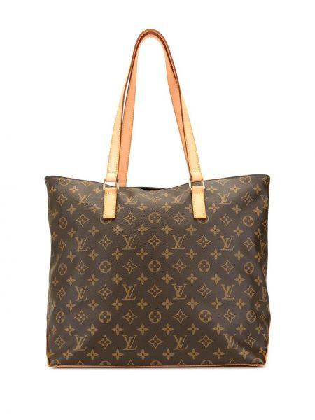 Skórzana torebka za pełne z łatami Louis Vuitton Pre-owned
