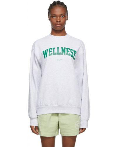 Bawełna bluza z długimi rękawami z mankietami z kołnierzem Sporty And Rich