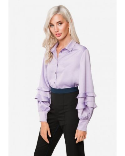 Блузка с длинным рукавом осенняя фиолетовый Solou