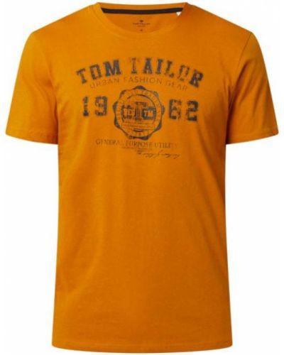 Żółta koszulka bawełniana Tom Tailor