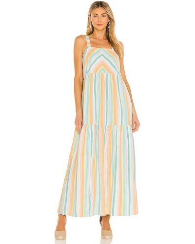 Niebieska sukienka długa bawełniana Saylor