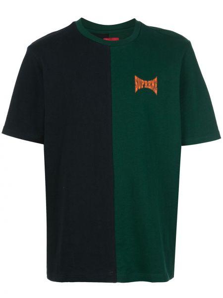 Koszula krótkie z krótkim rękawem na uroczystość zielona Supreme