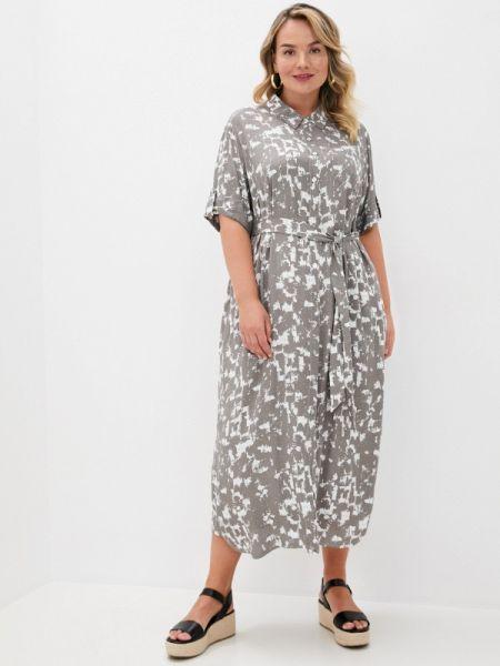 Платье серое платье-рубашка Intikoma