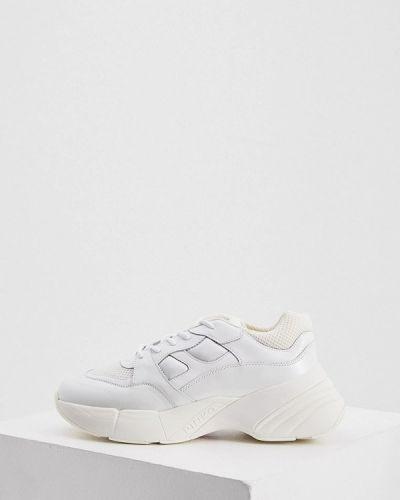 Кожаные кроссовки - белые Pinko