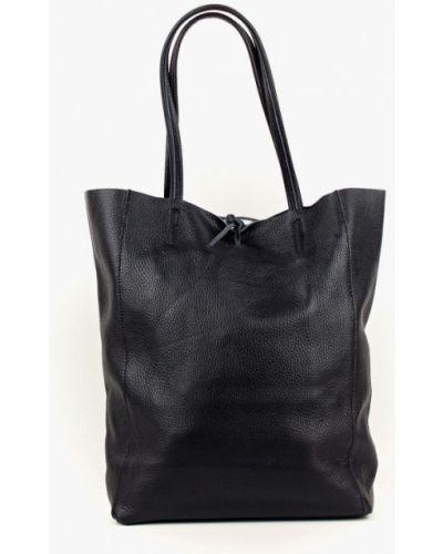 Кожаная сумка шоппер - черная Bella Bertucci