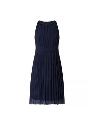 Niebieska sukienka koktajlowa z szyfonu Apart Glamour