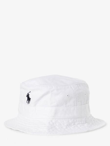 Biały kapelusz vintage Polo Ralph Lauren