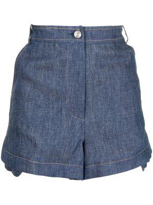 Синие хлопковые шорты Alexis