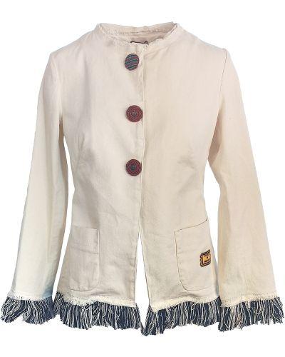Biała kurtka bawełniana Maliparmi