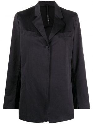 Однобортный синий удлиненный пиджак с воротником Sara Lanzi