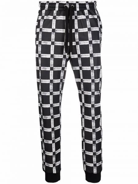 Спортивные брюки из полиэстера - черные John Richmond