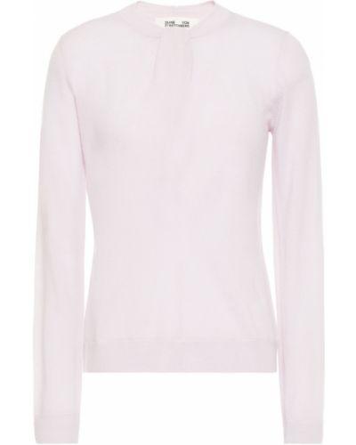 Шерстяной свитер - сиреневый Diane Von Furstenberg