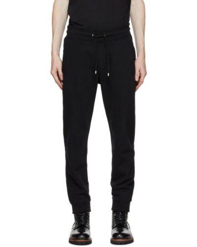 Czarny spodnie z kieszeniami z mankietami z łatami Belstaff