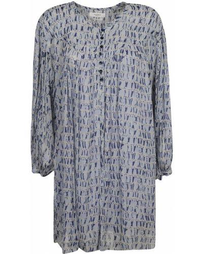 Sukienka midi z wiskozy - niebieska Isabel Marant Etoile