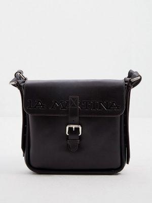 Черная сумка осенняя La Martina