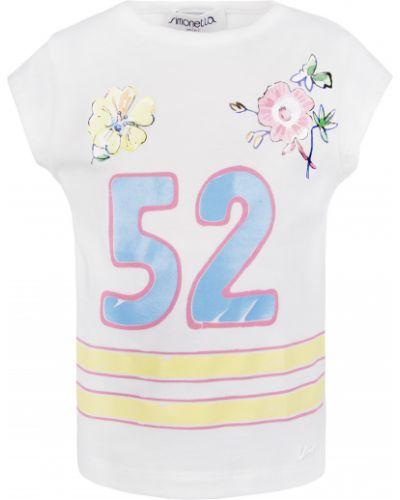 Хлопковая футболка - белая Simonetta