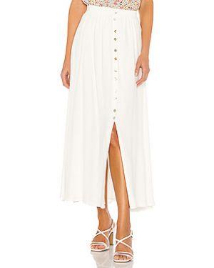 Белая кашемировая юбка с поясом Cupcakes And Cashmere