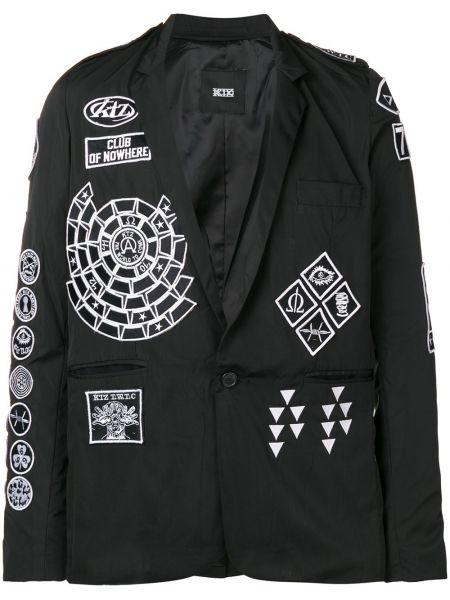 Пиджак черный свободный Ktz