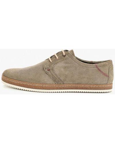 Туфли замшевые серые Bata