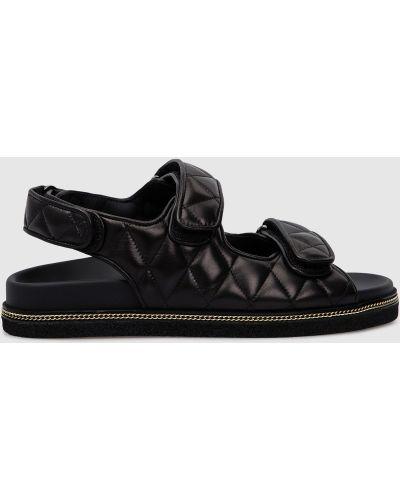 Кожаные сандалии - черные Babe Pay Pls