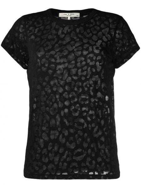 Bawełna bawełna czarny koszula krótkie rękawy Rag & Bone