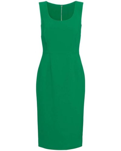 Зеленое платье миди для офиса из вискозы Dolce & Gabbana