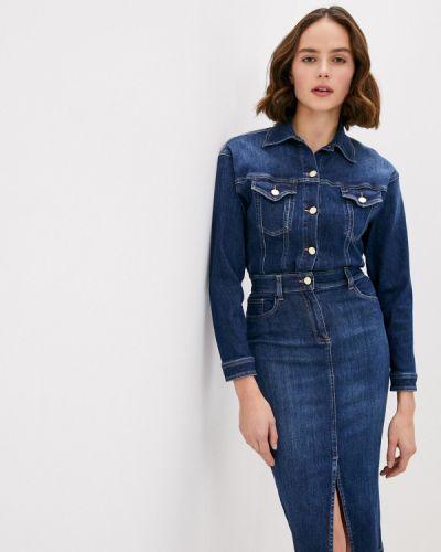 Синее джинсовое платье Elisabetta Franchi