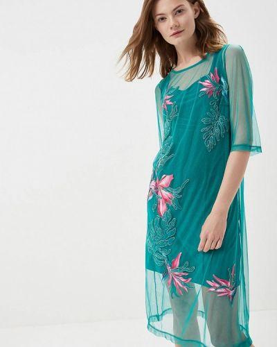 Платье бирюзовый Ricamare
