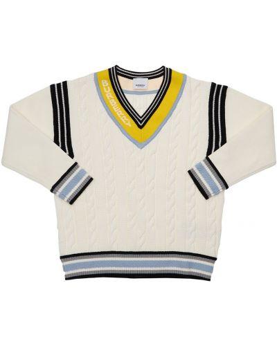 Sweter w paski bawełniany Burberry