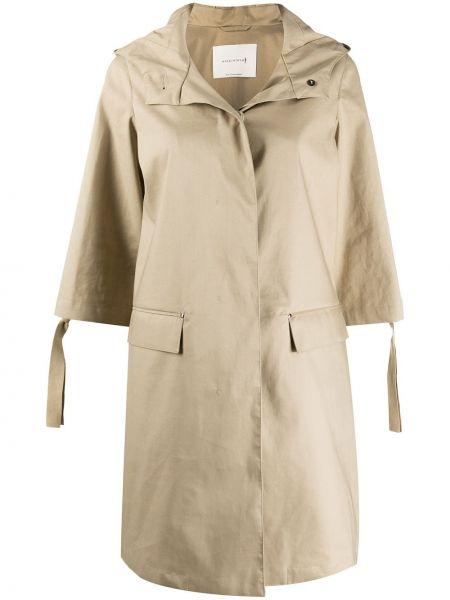 С рукавами пальто классическое с капюшоном на пуговицах Mackintosh