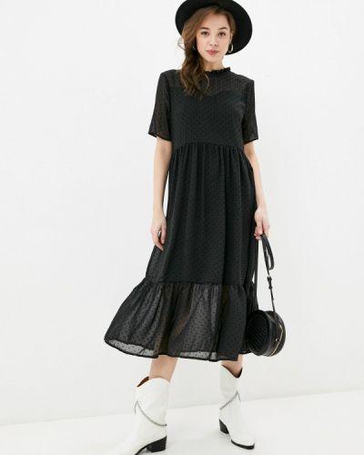 Прямое черное платье А-силуэта Incity