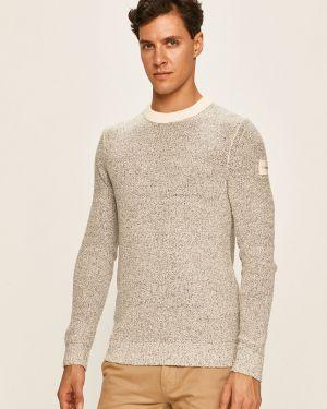 Sweter z wzorem wełniany Calvin Klein