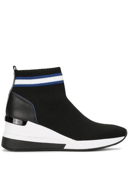 Черные носки на платформе Michael Kors