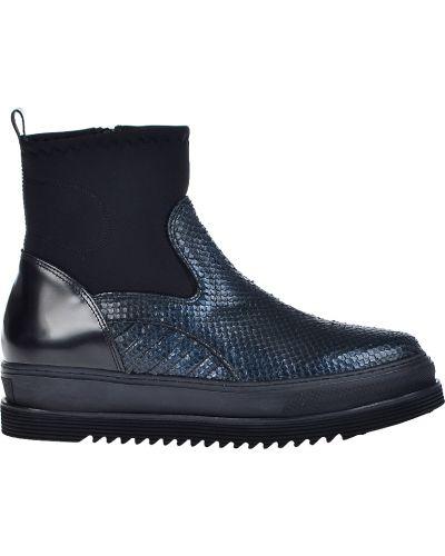 Кожаные ботинки - синие Laura Bellariva