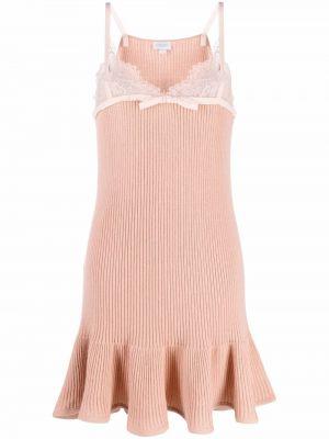 Розовое платье из ангоры Giambattista Valli