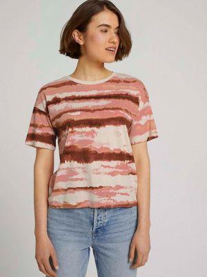 Розовая джинсовая футболка Tom Tailor Denim