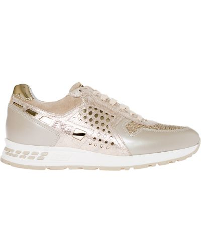 Кожаные кроссовки - золотые Nero Giardini
