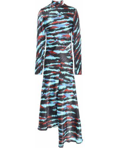 Бирюзовое домашнее платье миди с подкладкой House Of Holland