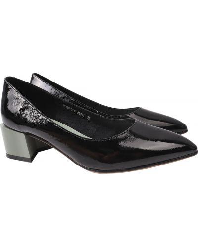 Кожаные туфли - черные Berkonty