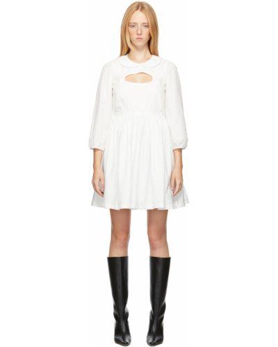 Белое платье макси с воротником Sandy Liang
