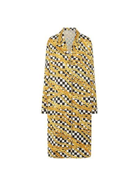 Платье макси на пуговицах в клетку Balenciaga