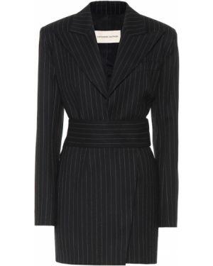 Шерстяное платье мини - черное Alexandre Vauthier