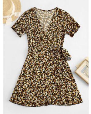 Платье мини с цветочным принтом Zaful