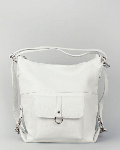 Кожаный рюкзак - белый Bella Bertucci