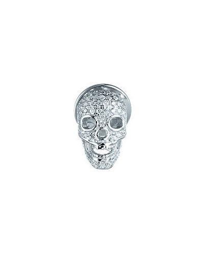 Серебряная брошь с камнями серебряный Element47 By Jv