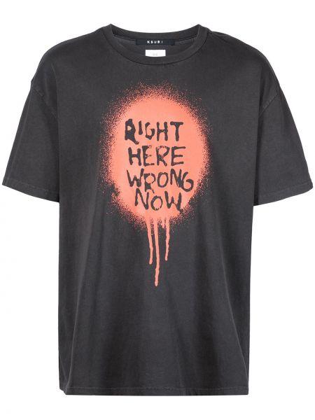 Pomarańczowa T-shirt z nadrukiem z printem Ksubi
