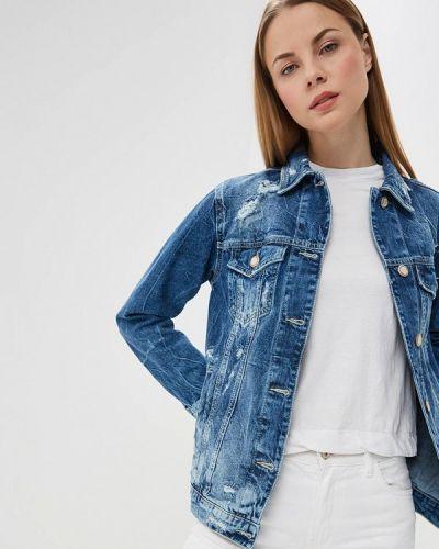 Джинсовая куртка весенняя синий Whitney
